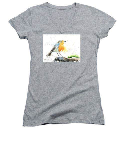 European Robin Women's V-Neck