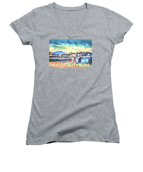 Evening Glow After The Storm Women's V-Neck