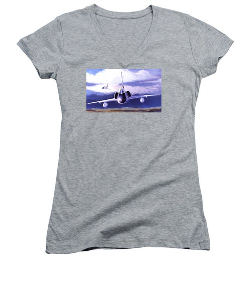 F-106a Head-on Women's V-Neck