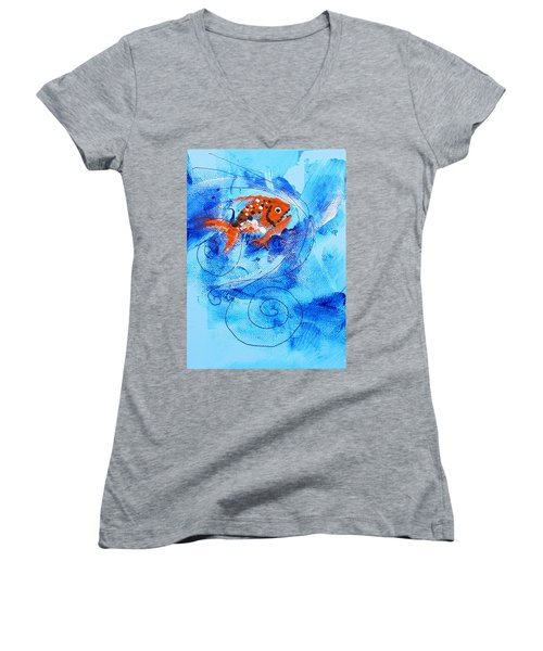 Fake Nemo Fish Women's V-Neck