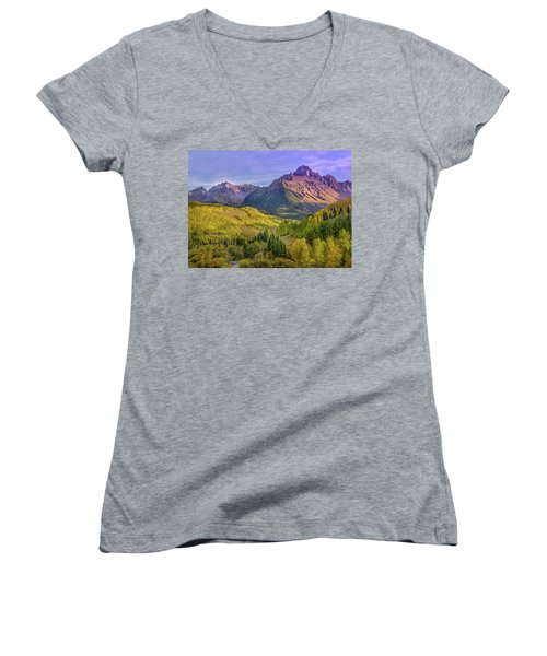 Fall Color In The San Juan Mountains Women's V-Neck