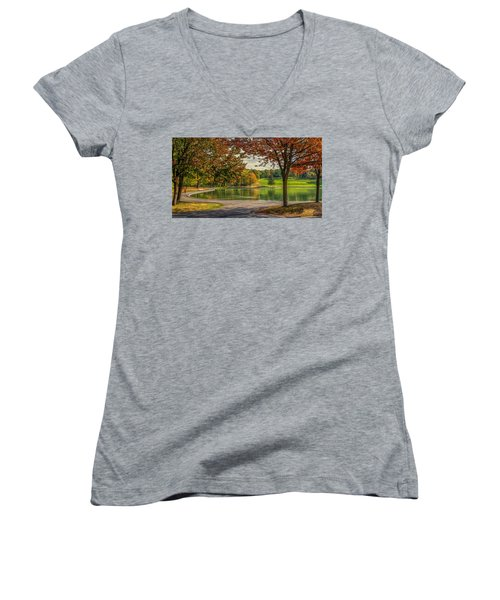 Fall In Montreal Women's V-Neck
