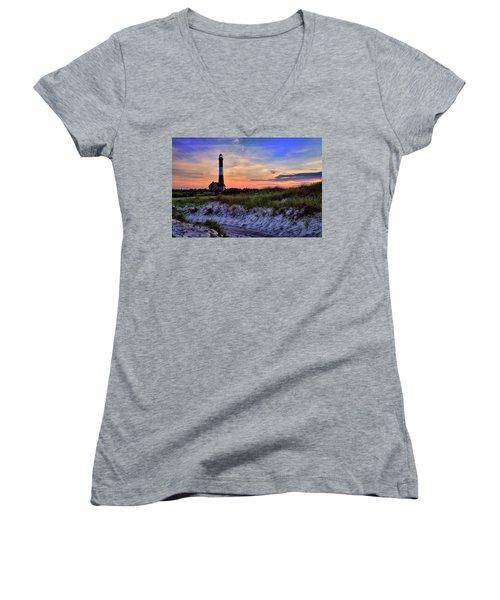 Fire Island Lighthouse Women's V-Neck