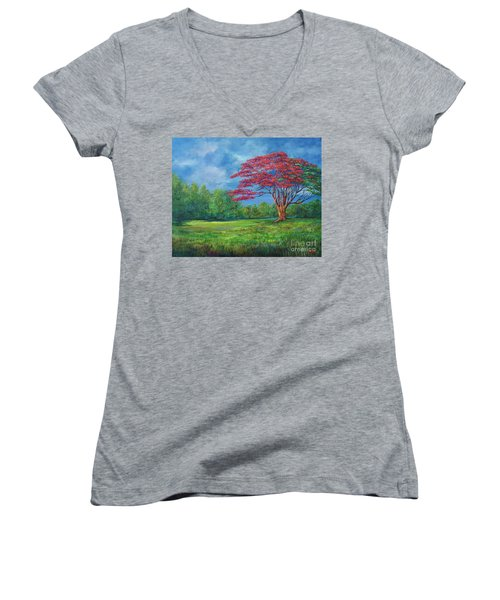 Flame Tree Women's V-Neck
