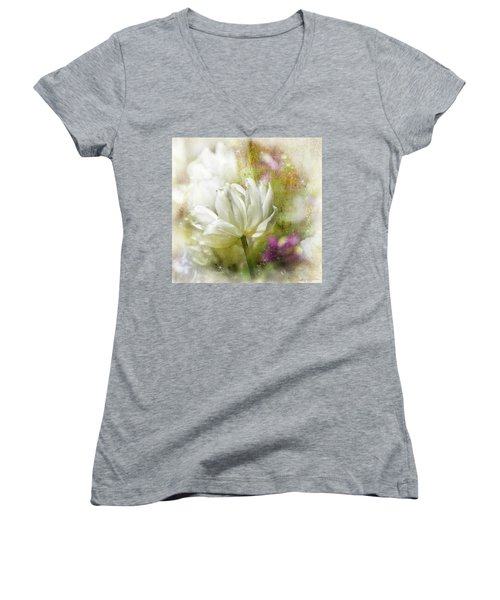 Floral Dust Women's V-Neck