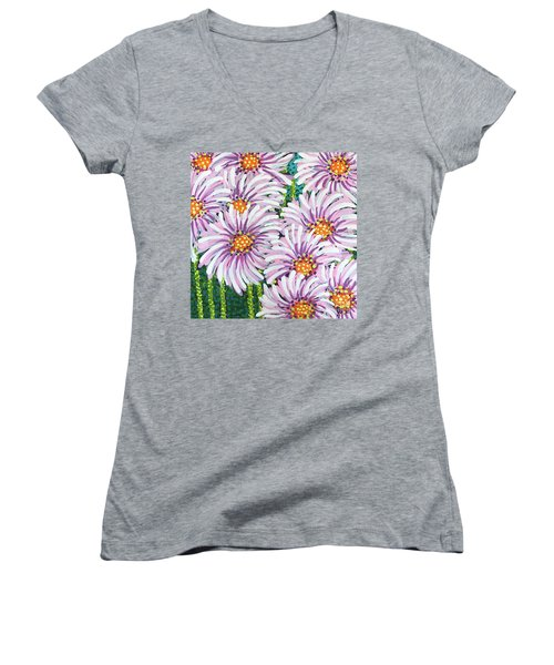 Floral Whimsy 1 Women's V-Neck