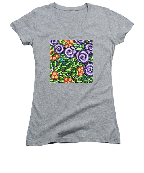 Floral Whimsy 11 Women's V-Neck