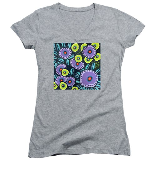 Floral Whimsy 12 Women's V-Neck