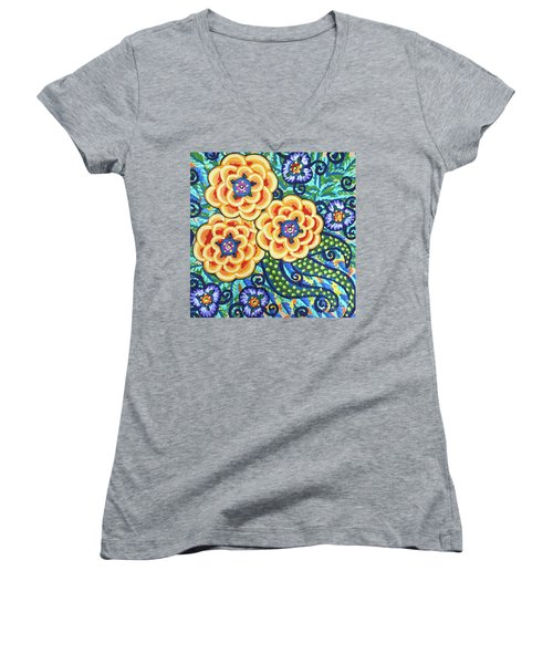 Floral Whimsy 9 Women's V-Neck
