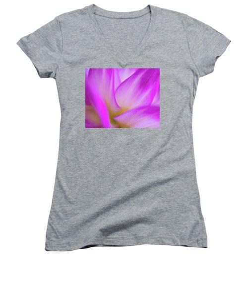 Flower Close Up Women's V-Neck