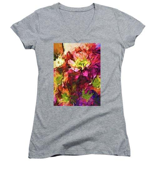 Flower Colour Love 2 Women's V-Neck (Athletic Fit)