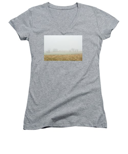 Foggy Country Morning Women's V-Neck