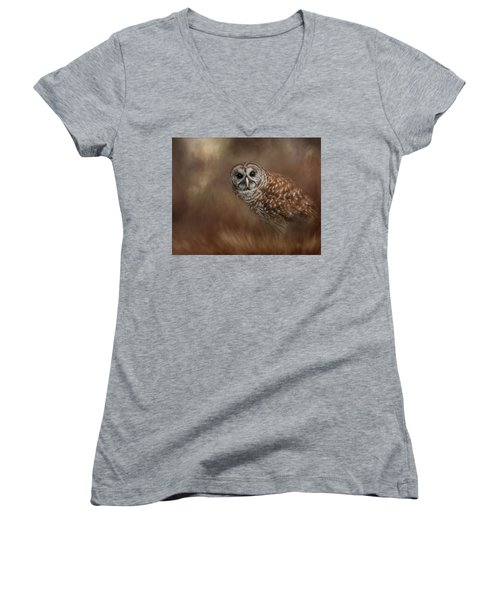 Foraging In The Field Women's V-Neck