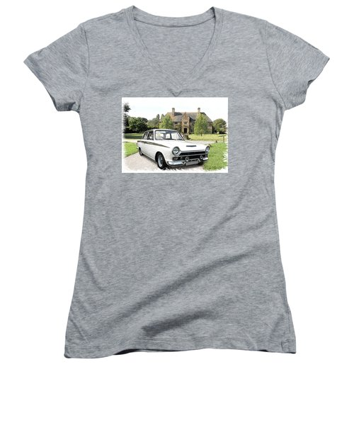 Ford 'lotus' Cortina Women's V-Neck