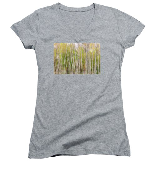 Women's V-Neck featuring the photograph Forest Twist And Turns In Motion by James BO Insogna