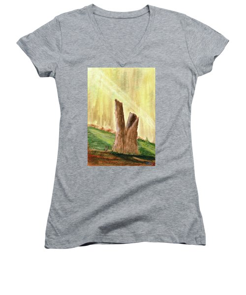 From Ruins Comes New Life Women's V-Neck