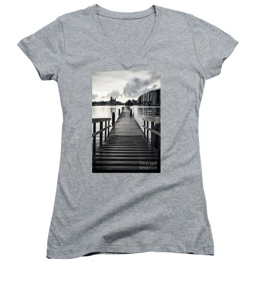 From The Solid Ground... Women's V-Neck