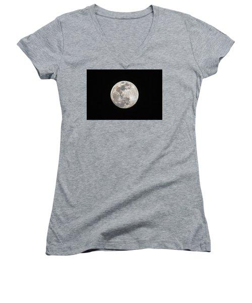 Full Moon Women's V-Neck