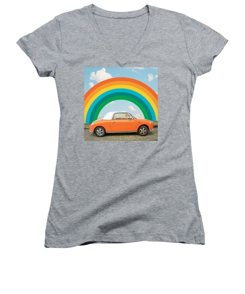Funky Rainbow Ride Women's V-Neck