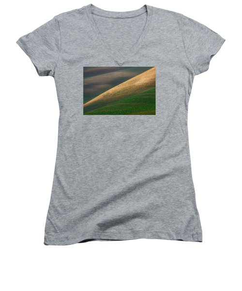 Geometric Field Abstract Women's V-Neck