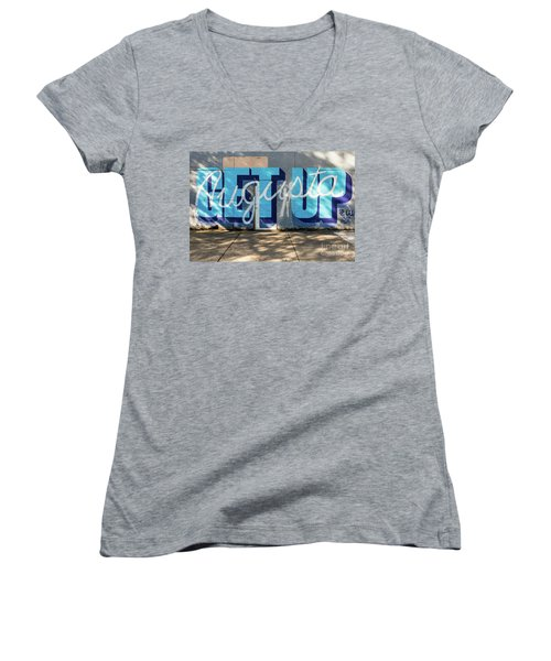 Get Up Augusta Ga Mural  Women's V-Neck