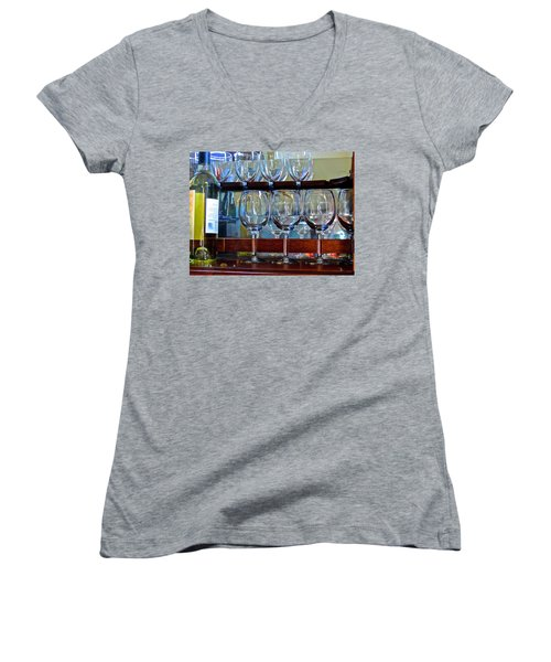 Glass Act... Women's V-Neck (Athletic Fit)