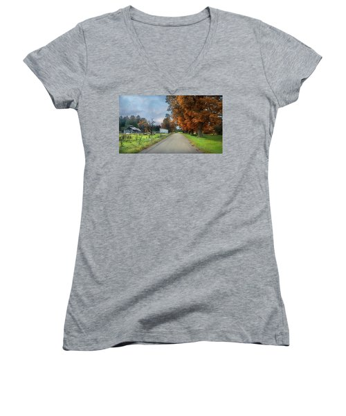 Going Up The Country Women's V-Neck