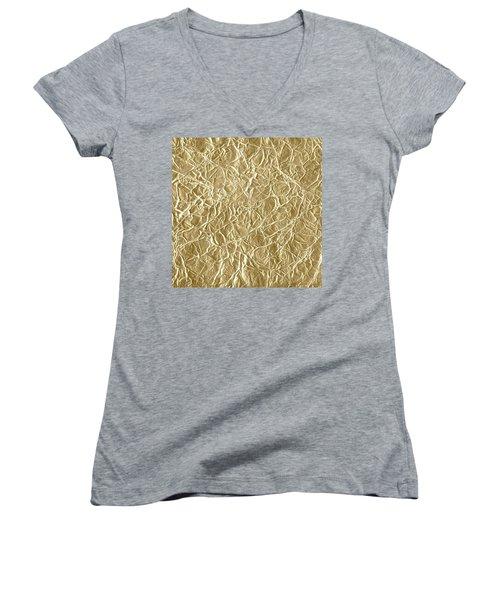 Gold Cute Gift Women's V-Neck