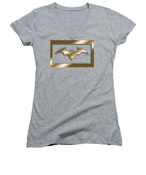 Golden Bat Women's V-Neck
