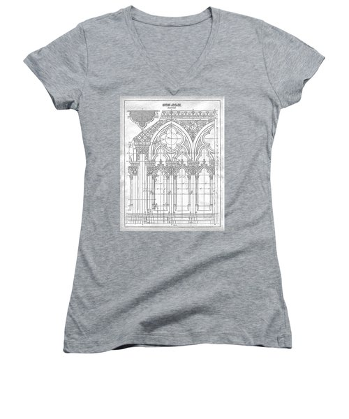 Gothic Arches Women's V-Neck