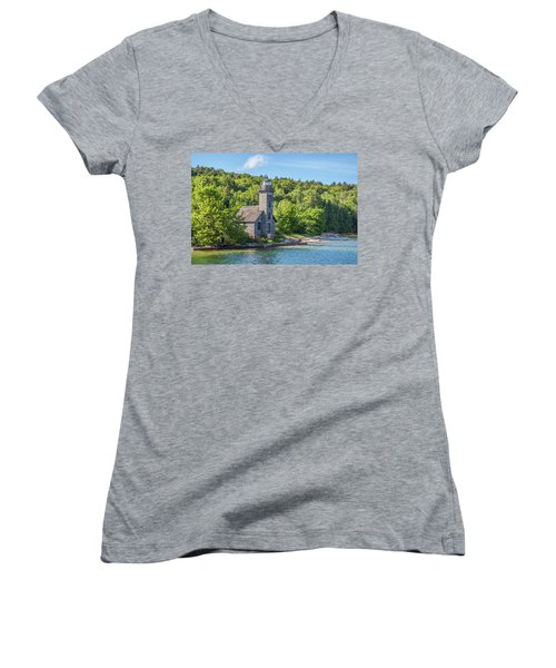 Grand Island East Channel Lighthouse, No. 2 Women's V-Neck