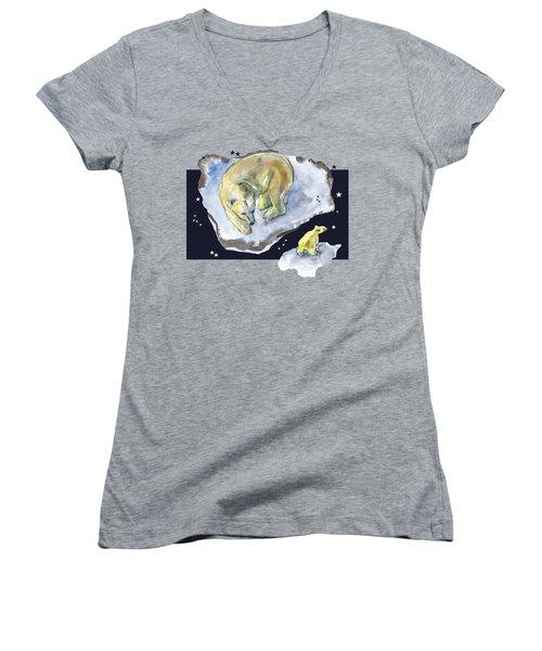 Great Bear Family -  Ursa Major Constellation Women's V-Neck
