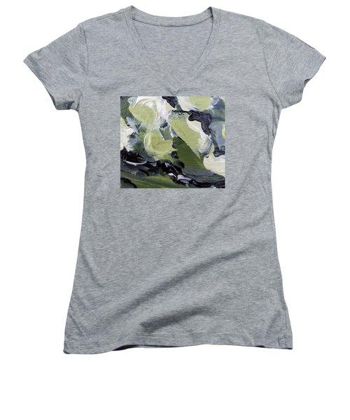 Green #1 Women's V-Neck