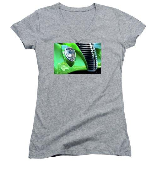 Green Machine Women's V-Neck