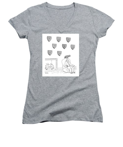 Hammer And Nails Women's V-Neck