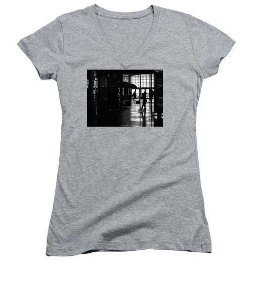 Women's V-Neck featuring the photograph Happy Kid by Steve Stanger
