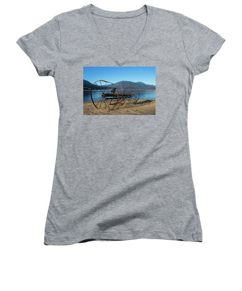 Harrison Lake Near Agassiz Women's V-Neck