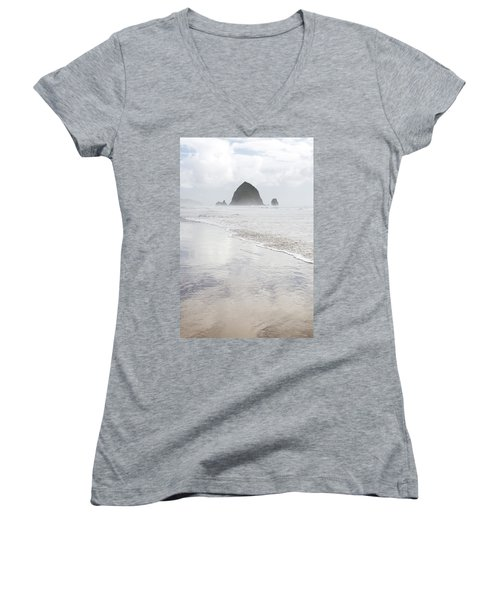 Haystack Rock Women's V-Neck