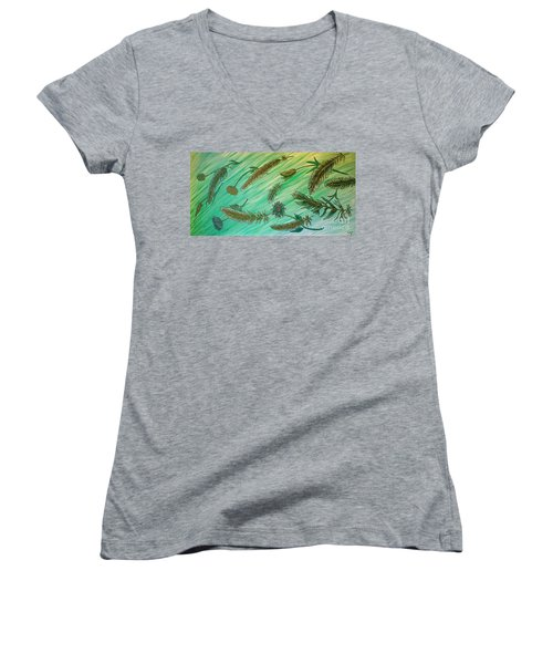 Healing Messages Women's V-Neck (Athletic Fit)