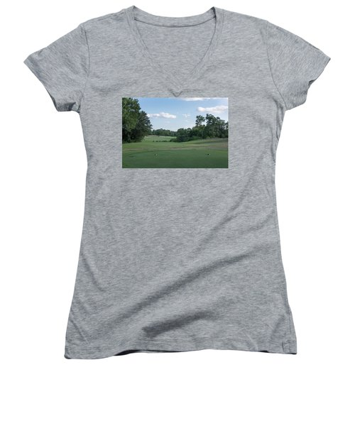 Hole #10 Women's V-Neck (Athletic Fit)