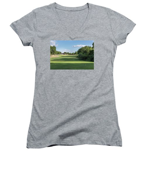Hole #11 Women's V-Neck (Athletic Fit)