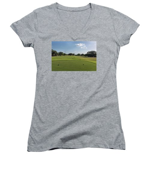 Hole #15 Women's V-Neck (Athletic Fit)