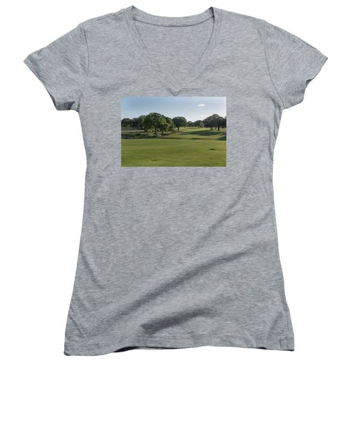 Hole #18 Women's V-Neck (Athletic Fit)