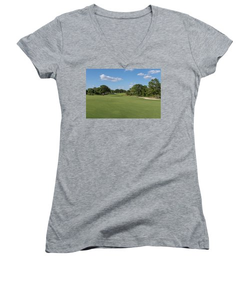 Hole #2 Women's V-Neck (Athletic Fit)