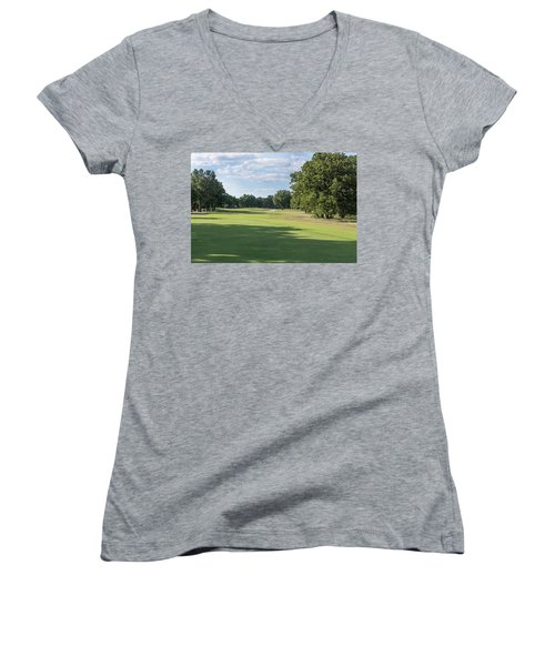 Hole #3 Women's V-Neck (Athletic Fit)