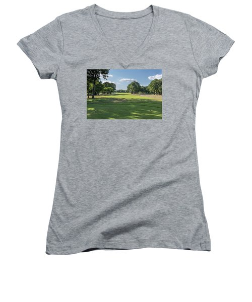 Hole #4 Women's V-Neck (Athletic Fit)