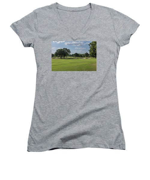 Hole #5 Women's V-Neck (Athletic Fit)