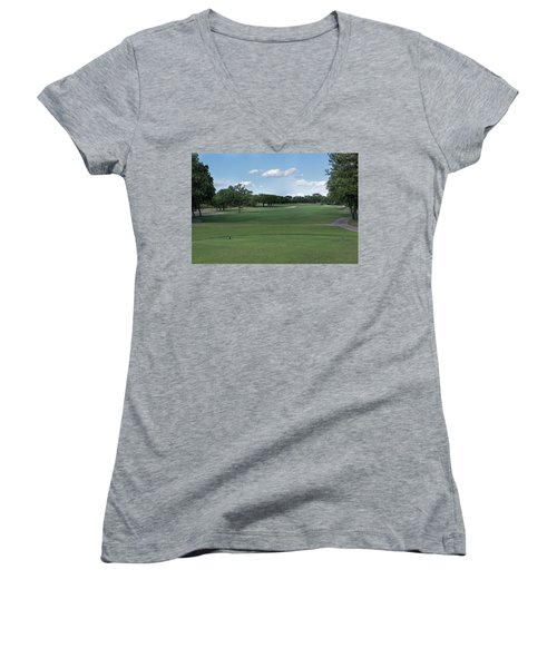 Hole #6 Women's V-Neck (Athletic Fit)