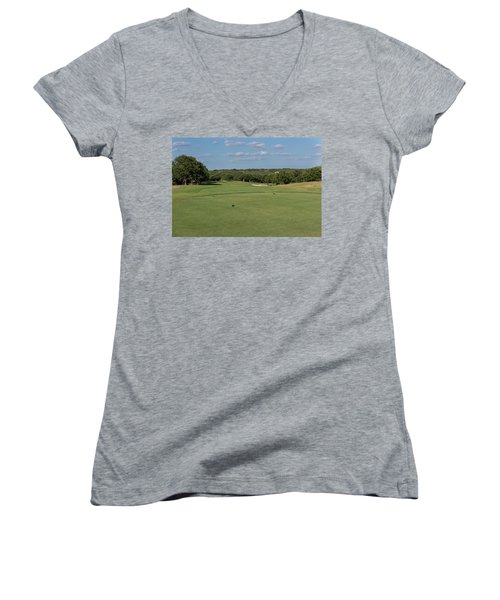 Hole #7 Women's V-Neck (Athletic Fit)