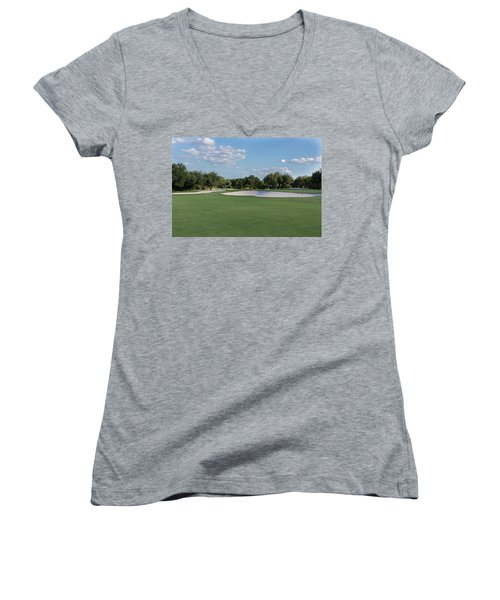 Hole #8 Women's V-Neck (Athletic Fit)